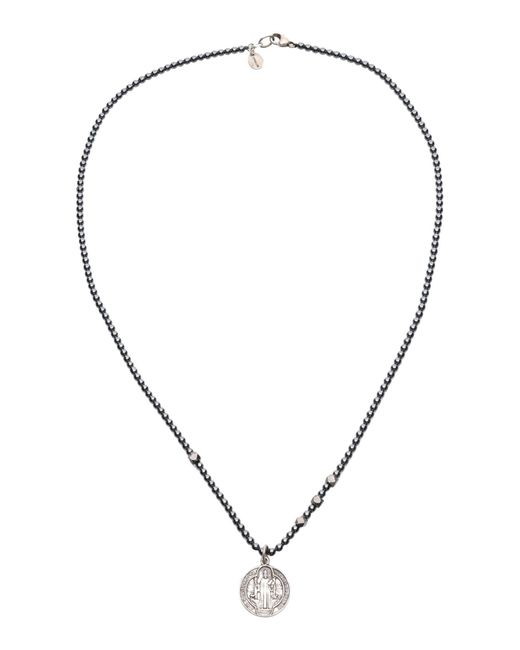 Chan Luu | Gray Pendant Stone Necklace | Lyst