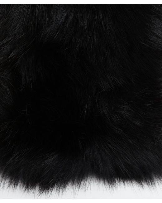 Adrienne Landau | Black Dyed Fox Fur Scarf | Lyst