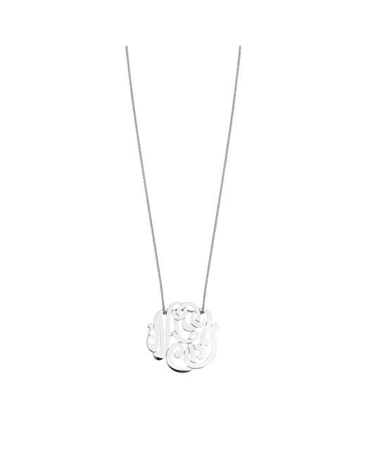 Ginette NY | Baby Monogramme White Gold Necklace | Lyst