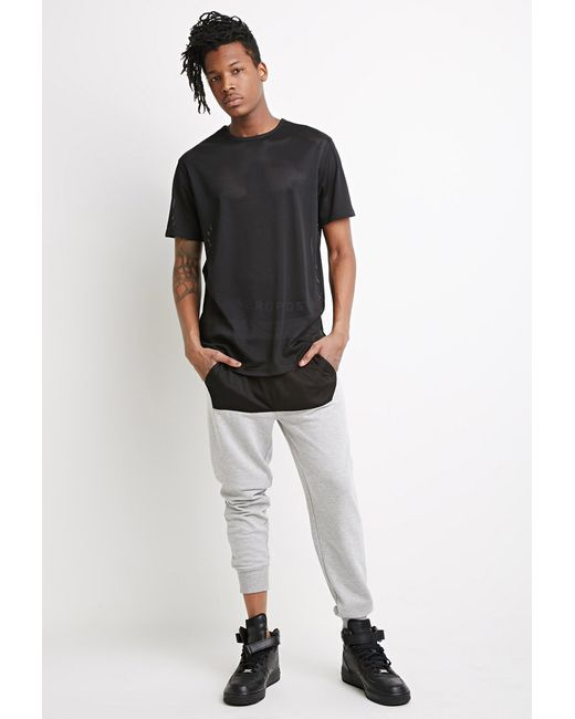 Forever 21 | Gray Mesh-paneled Joggers for Men | Lyst