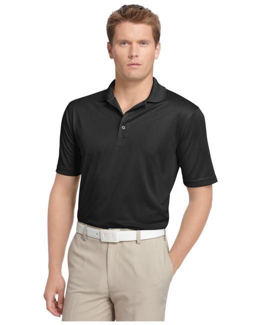 Izod   Black Performance Solid Grid Golf Polo for Men   Lyst
