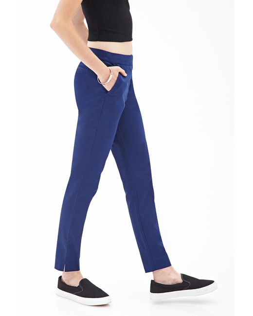 Forever 21 | Blue Classic Woven Trousers | Lyst