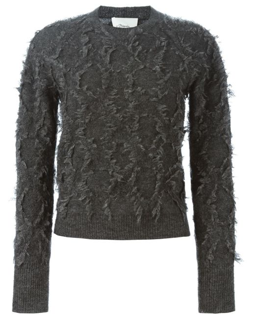 3.1 Phillip Lim | Gray Long-sleeve Fringe Pullover Sweater | Lyst