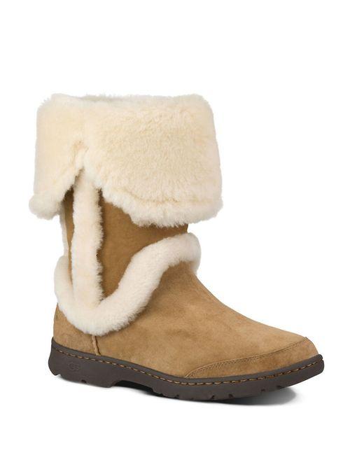UGG | Brown Katia Shearling Boots | Lyst