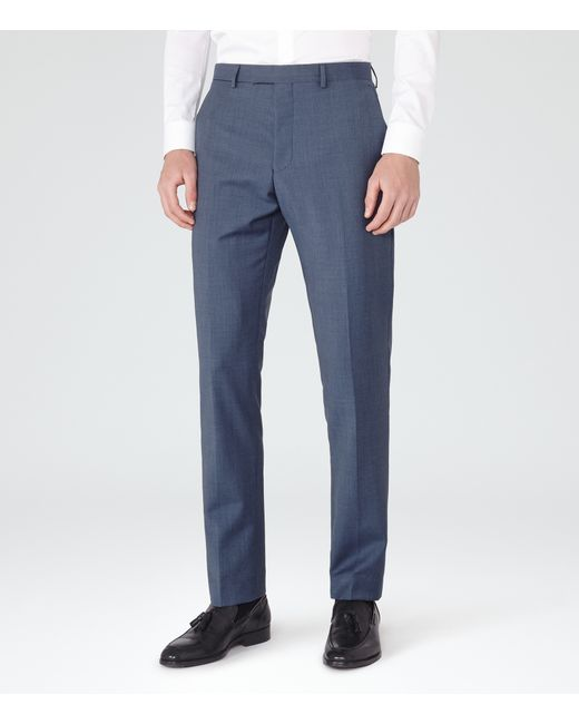 Reiss | Blue Harry Modern Fit Suit Trousers for Men | Lyst