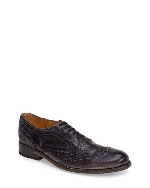 Bed Stu | Black 'corsico' Wingtip Oxford for Men | Lyst