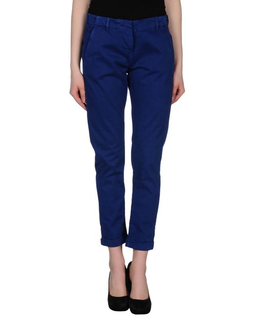 GAUDI | Blue Casual Pants | Lyst