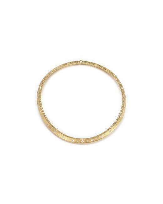 Roberto Coin   Metallic 18k Yellow Gold Diamond Link Princess Collar Necklace   Lyst