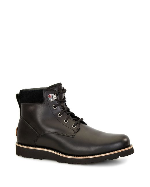 Ugg | Black Seton Shearling-lined Leather Utility Boots for Men | Lyst