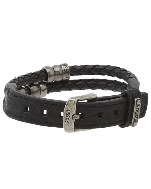 Fossil | Brown Vintage Casual Beaded Leather Bracelet | Lyst