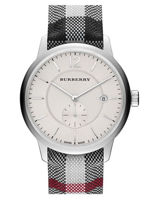 Burberry | Metallic Textured Dial Watch | Lyst