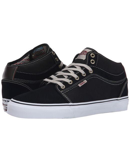 Vans Chukka Mid Top In Black For Men Chucho Stripe