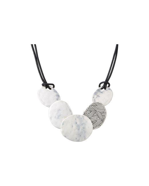 The Sak   Metallic Frontal Disc Necklace   Lyst