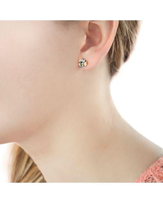 Ib&b | Metallic 9ct Gold Small Knot Stud Earrings | Lyst