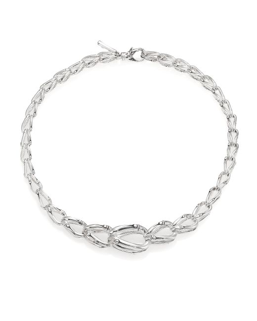 John Hardy | Metallic Bamboo Sterling Silver Chain Necklace | Lyst