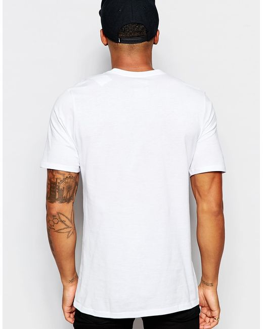 Nike t shirt with embroidered swoosh in white for men lyst for White nike swoosh shirt