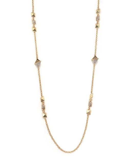 ABS By Allen Schwartz | Metallic Beaded Necklace | Lyst