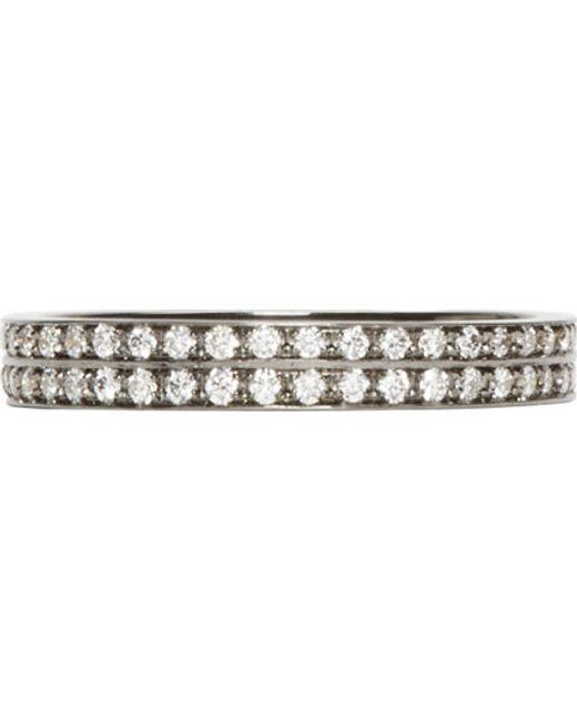 Repossi | Metallic Black Gold Pavé Diamond Berbere Ring | Lyst