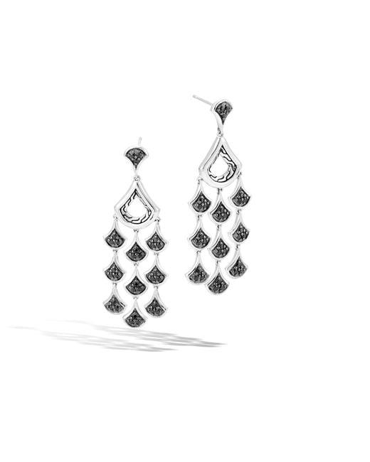 John Hardy | Metallic Naga Chandelier Earring With Black Sapphire | Lyst