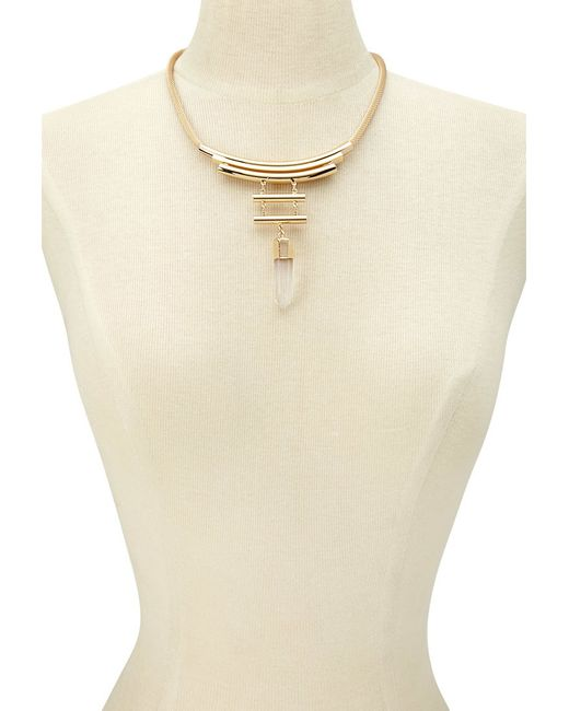 Forever 21 | Metallic Faux Crystal Statement Necklace | Lyst