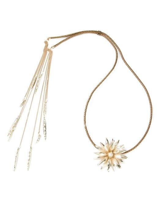 Rosantica | Metallic Flower Necklace | Lyst