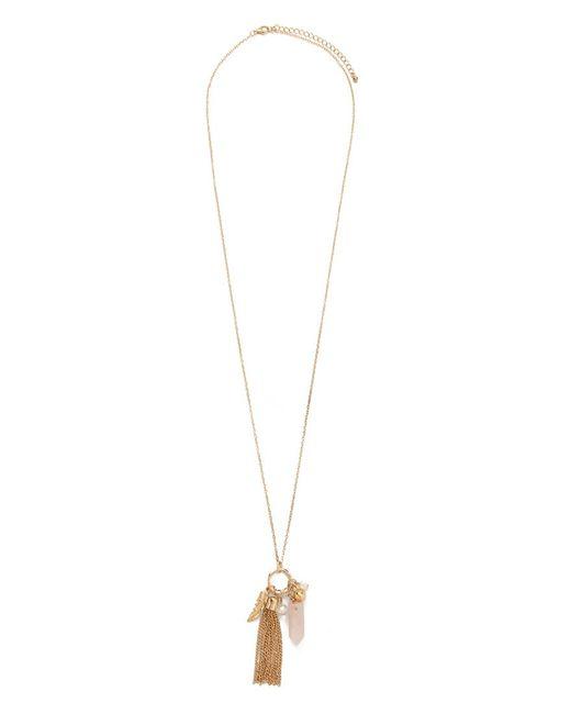Forever 21   Metallic Longline Tassel Pendant Necklace   Lyst