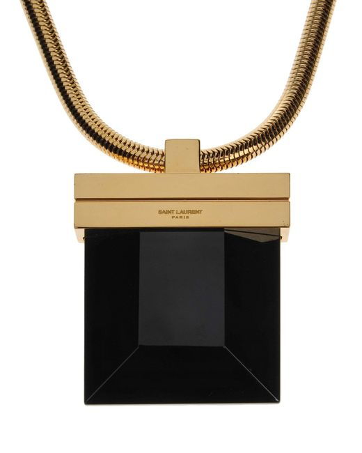 Saint Laurent | Metallic Necklace | Lyst