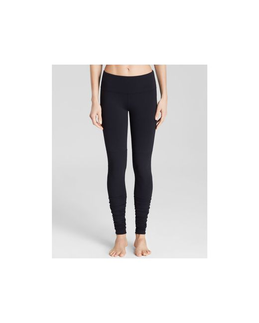 Alo Yoga | Black Goddess Ribbed Leggings - Essential Pick | Lyst