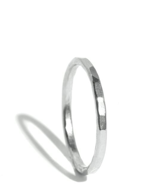 Melissa Joy Manning | Metallic Hammered Texture 1.5mm Ring | Lyst