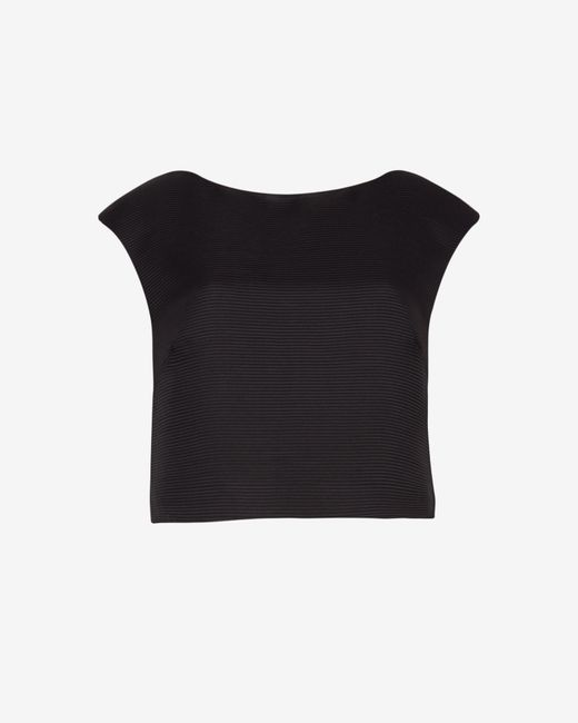Ted Baker | Black Ribbed Crop Top | Lyst