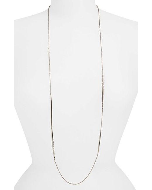 Alexis Bittar | Metallic 'miss Havisham' Long Necklace - Gunmetal | Lyst