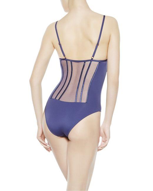 La Perla   Blue Swimsuit   Lyst