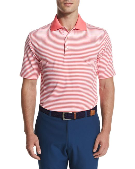 Peter millar competition stripe stretch jersey polo shirt for Peter millar women s golf shirts