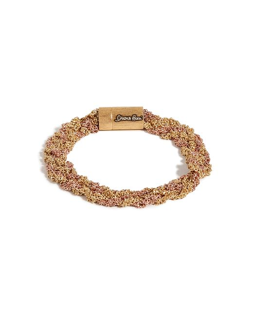 Carolina Bucci | Metallic Gold/rose Gold Woven Chain Bracelet | Lyst