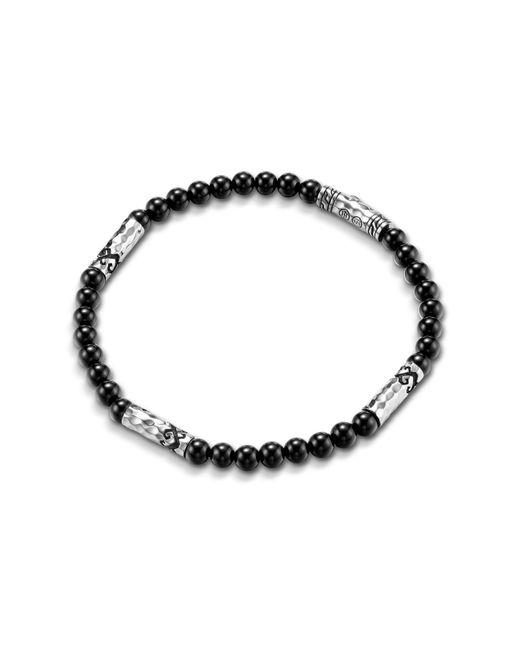 John Hardy | Metallic Men's Batu Dayak Silver Bead Bracelet In Onyx for Men | Lyst
