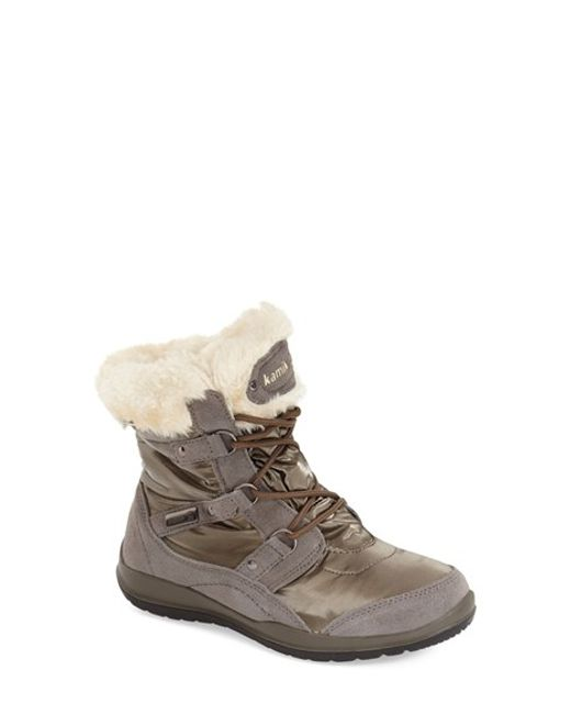 Kamik   Gray Sofia Water-Resistant Snow Boots    Lyst