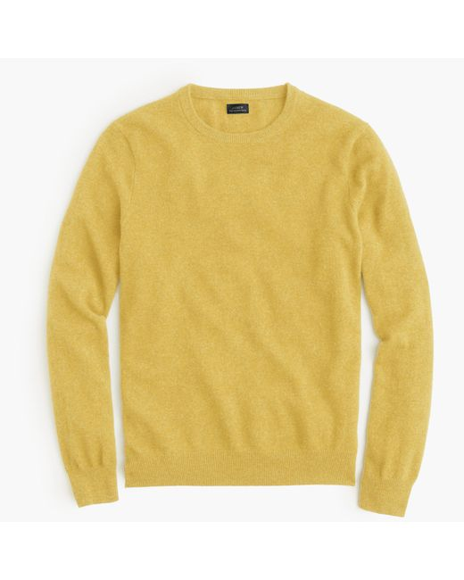 J.Crew | Yellow Italian Cashmere Crewneck Sweater for Men | Lyst