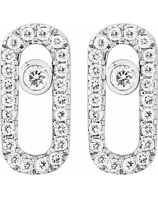 Messika | Metallic Move Uno 18ct White-gold And Diamond-set Stud Earrings | Lyst