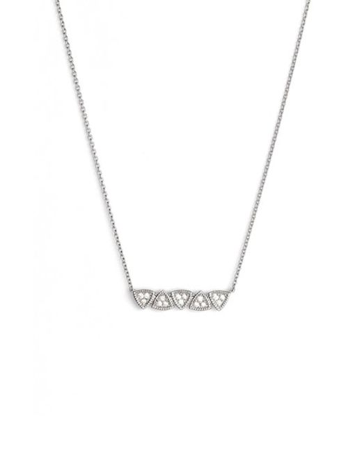Dana Rebecca Emily Diamond Bar Pendant Necklace In
