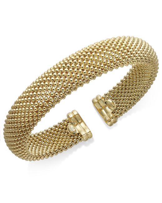 Macy's | Metallic Mesh Bangle Bracelet In 14k Vermeil Over Sterling Silver | Lyst