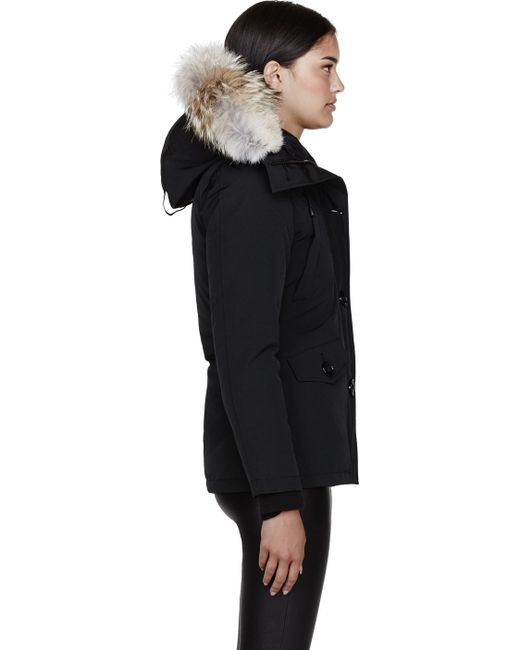 Canada Goose toronto sale official - Canada goose Black Down and Fur Montebello Parka in Black | Lyst
