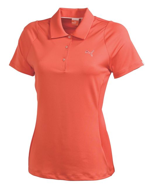 PUMA | Pink Golf Duo Swing Polo | Lyst