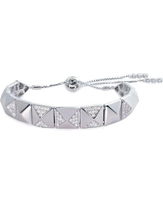 Carat*   Metallic Bermuda Jackson White Gold-plated And Diamanté Bracelet   Lyst