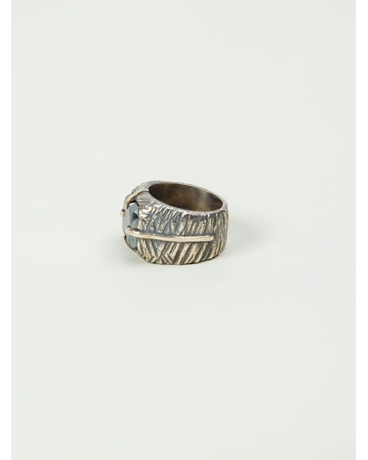 Tobias Wistisen | Metallic 'sawed Stone' Ring for Men | Lyst