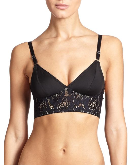 Fortnight | Black Mira Long-line Bra | Lyst