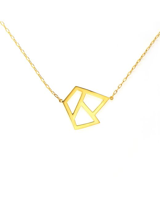 Ona Chan Jewelry | Metallic Triple Lattice Necklace Gold | Lyst