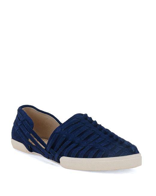 Elliott Lucca | Blue Rani Woven Leather Flats | Lyst