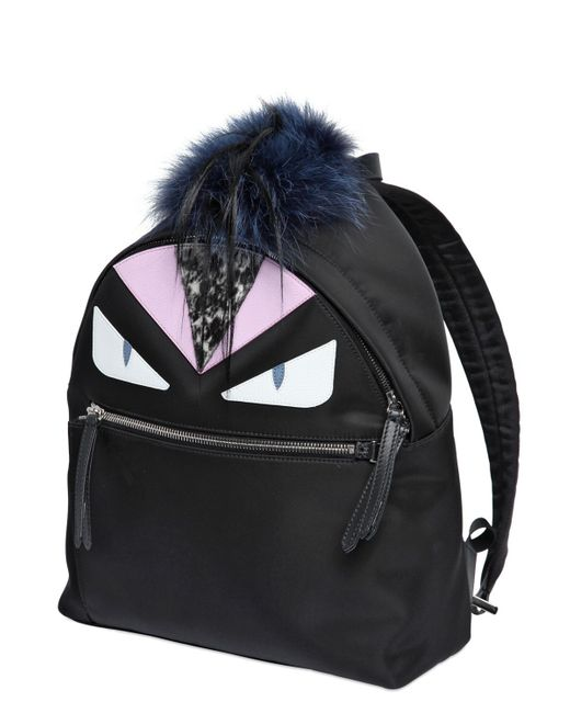Fendi | Black Mini Bag Bugs Backpack | Lyst