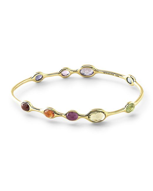 Ippolita | Metallic 18k Rock Candy® 9-station Bangle In Fall Rainbow | Lyst