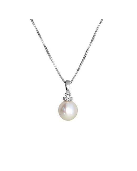 Azendi | Metallic Pearl Pendant With Pavé Ring | Lyst